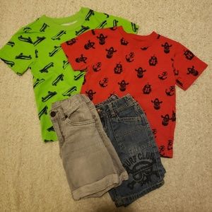 2 Trendy Boys Outfits Size 3T